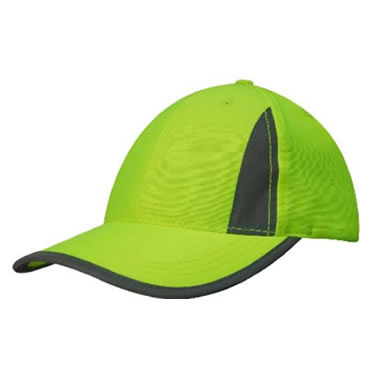3029 Structured 6 Panel Luminescent Safety Cap with reflective inserts and trim