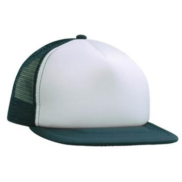 3806 5 Panel Trucker Mesh Cap with flat peak