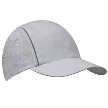 3814 Microfibre Sports Cap With Side Mesh and Reflective Trim