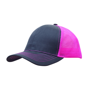 4002 Brushed Cotton with Mesh Back Cap