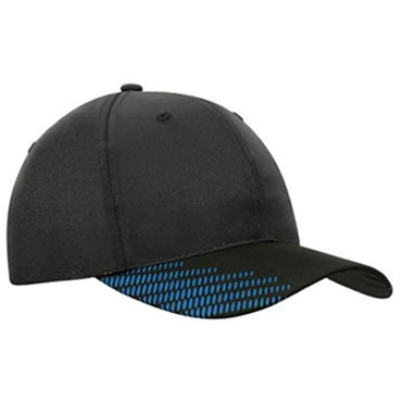 4007 Breathable Poly Twill Cap with peak flash print