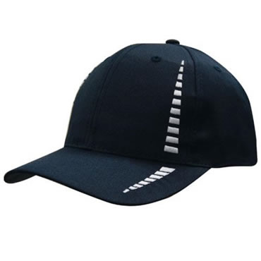 4010 6 Panel Breathable Poly Twill Cap with Embroidered Checks