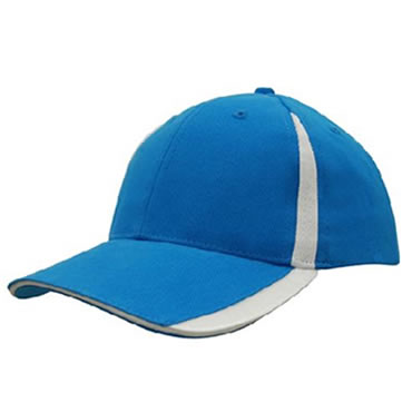 4014 Brushed Heavy Cotton Cap With Peak/Crown Flash