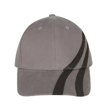 4015 Brushed Heavy Cotton Cap With PVC Tyre Track