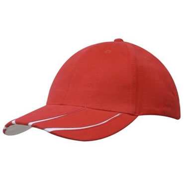 4018 Brushed Heavy Cotton Cap With Laminated Peak Inserts