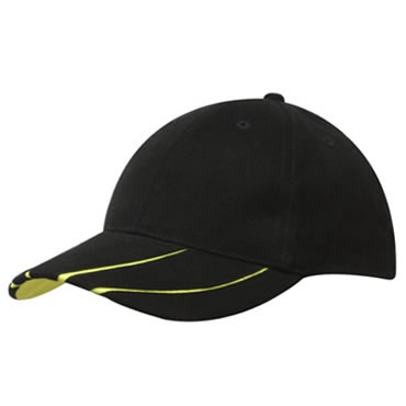 4019 Brushed Heavy Cotton Cap With Reflective Inserts