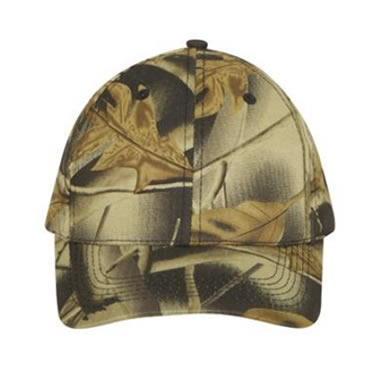 4028 Leaf Print Camouflage Cotton Twill Cap
