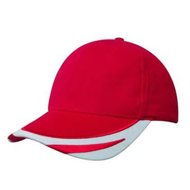 4072 Brushed Heavy Cotton Cap with embroidered peak trim