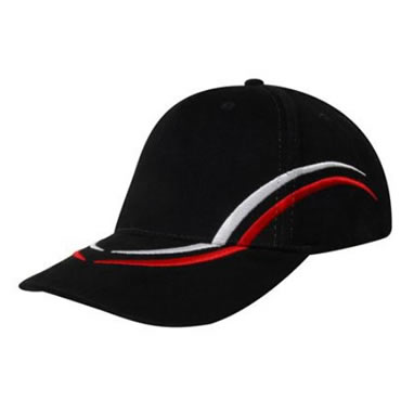 4075 Brushed Heavy Cotton Cap with curved embroidery on crown & peak