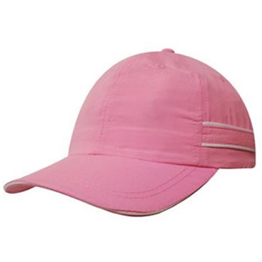 4077 Microfibre Sports Cap with piping & sandwich