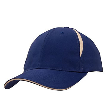 4092 Brushed Heavy Cotton Cap with Crown Inserts & Sandwich