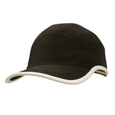 4094 Microfibre Sports Cap with Trim on Edge of Crown & Peak