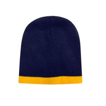 4188 Roll Down Two Tone Acrylic Beanie