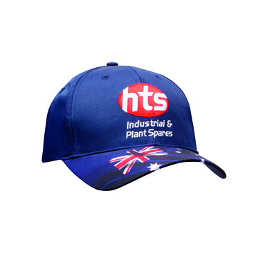 4190 Breathable Poly Twill Waving Flag Cap