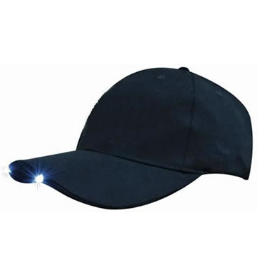 4202 Structured 6 Panel Brushed Heavy Cotton Cap with LED Lights