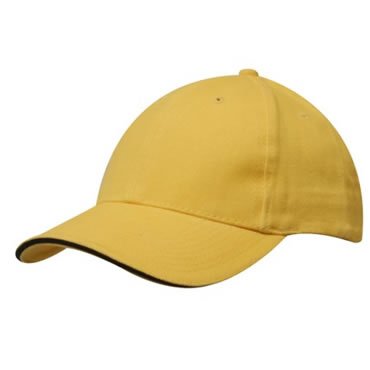 4210 Heavy Brushed Cotton Cap With Sandwich Trim