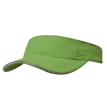 4230 Brushed Heavy Cotton Visor With Sandwich