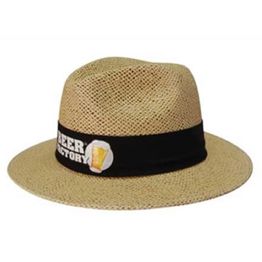 4285 Natural Madrid Style String Straw Hat