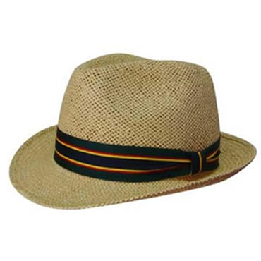 4287 Natural Fedora Style String Straw Hat